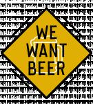 Logo We Want Beer Brest